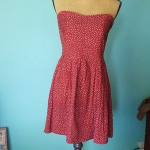 Annabelle Strapless polka dot dress